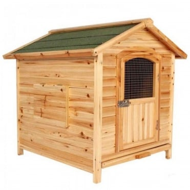 Penthouse Solid Cedar Dog Home