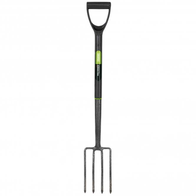 Draper Carbon Steel Border Fork with Plastic Handle