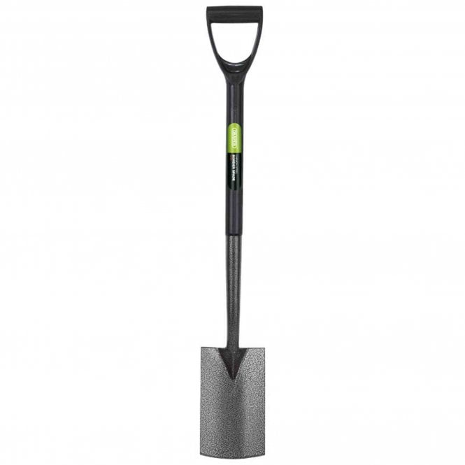 Draper Carbon Steel Border Spade with Plastic Handle