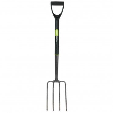 Carbon Steel Digging Fork with Plastic Handle
