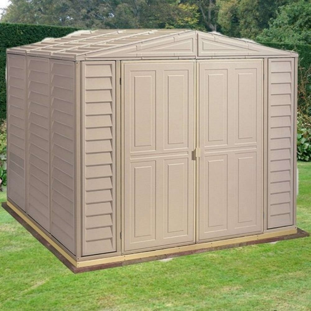 Duramax duramate plastic apex shed 8x8 garden street for Garden shed 8x8