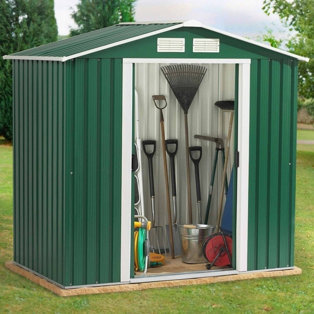 Emerald parkdale metal apex shed 6x4 garden street for Garden shed 6x4 sale