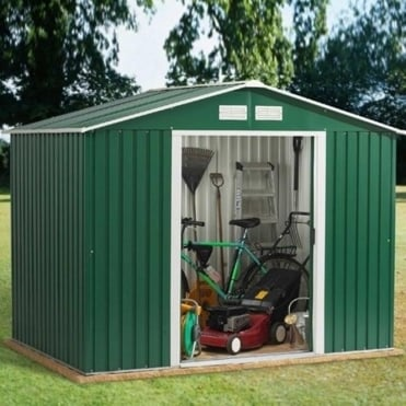 Emerald Rosedale Metal Apex Shed 8X6