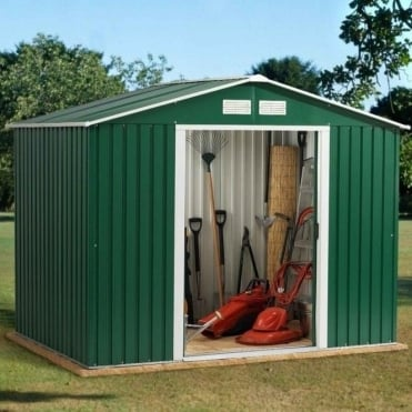 Emerald Rosedale Metal Apex Shed 8X8