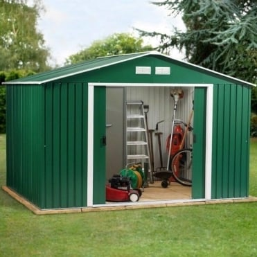 Emerald Springdale Metal Apex Shed 10X8