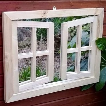 Economy Double Window Garden Mirror