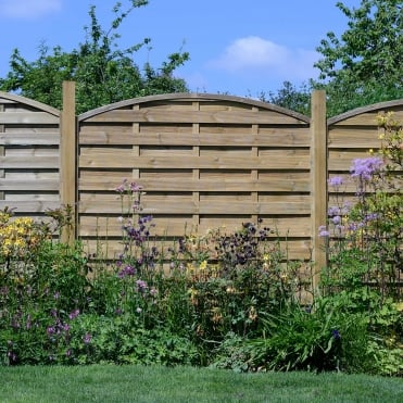 Elite St Carne Dome Fence Panel - 6ft