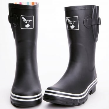 Matt Black Short Wellies