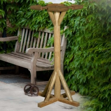 Flat Rustic Top Bird Table