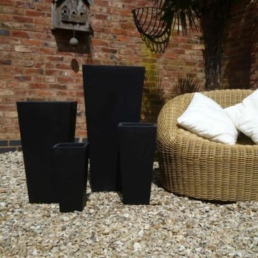 Foston Pot - Set of 4 Planters Black