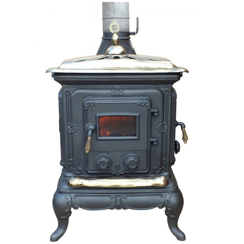 Gardeco amblecote cast iron multi fuel stove for Wood burning stove for porch