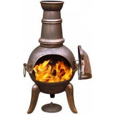 Granada Bronze Cast Iron Chimenea Medium