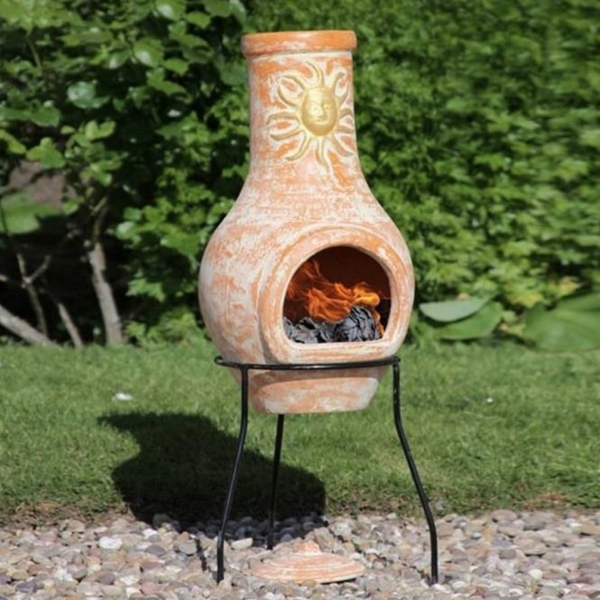 Gardeco Lola Sol Clay Chimenea Small