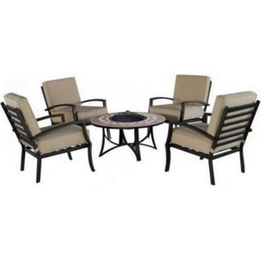 Mathilda Garden Furniture Set With BBQ Firebowl