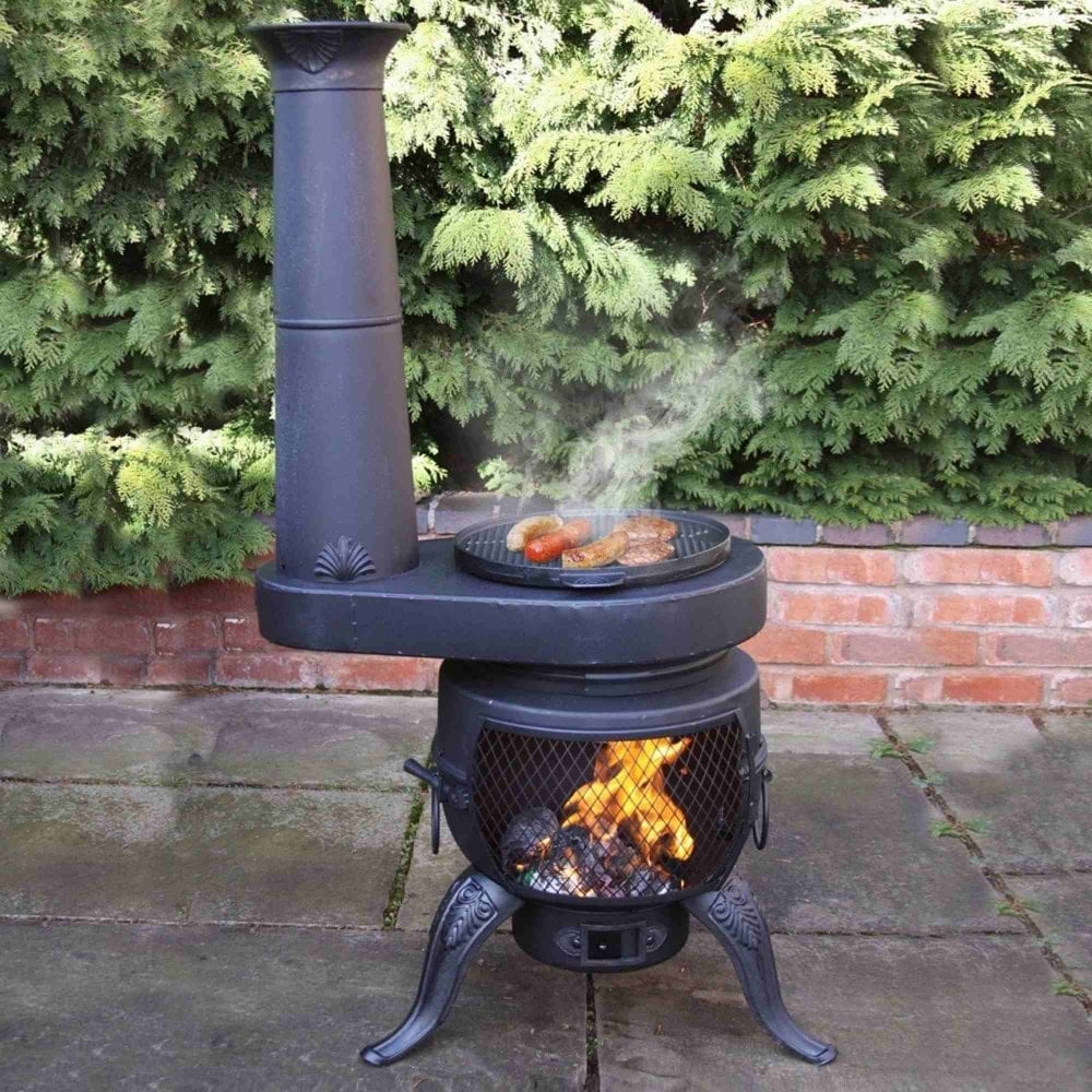 Gardeco Tia Chimenea With Chim Stove Included Garden Street