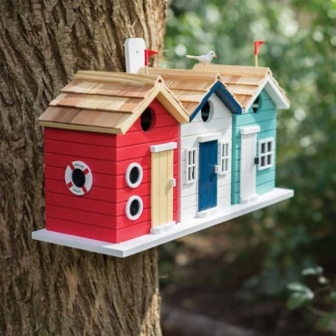 Beach Hut Birdhouse