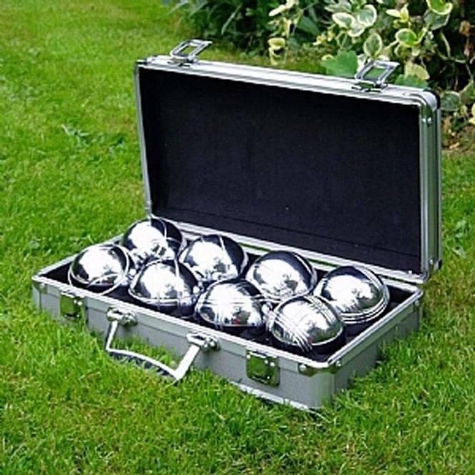 Garden Games Boules With Metal Case