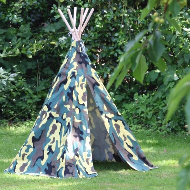 Garden Games Camouflage Wigwam Play Tent