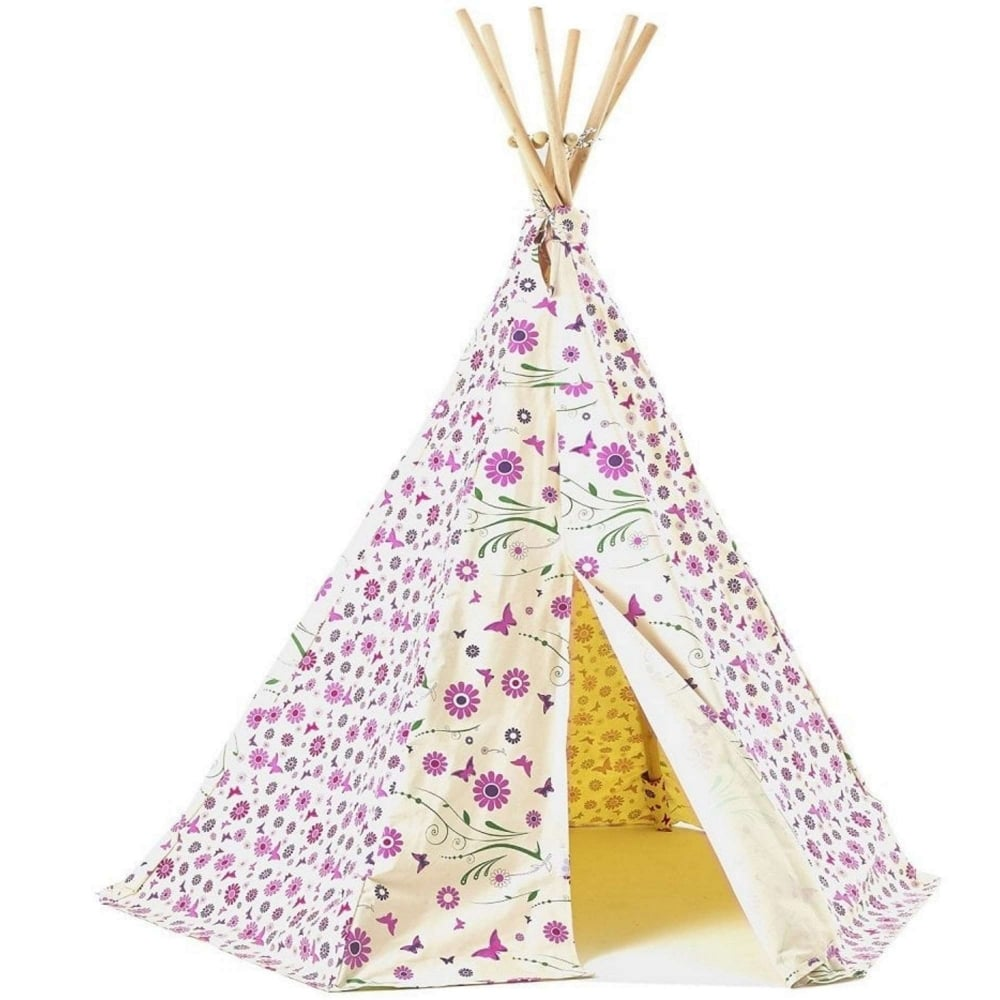 garden games flower & butterfly wigwam play tent