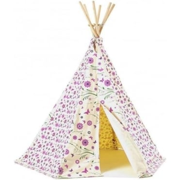 Flower & Butterfly Wigwam Play Tent