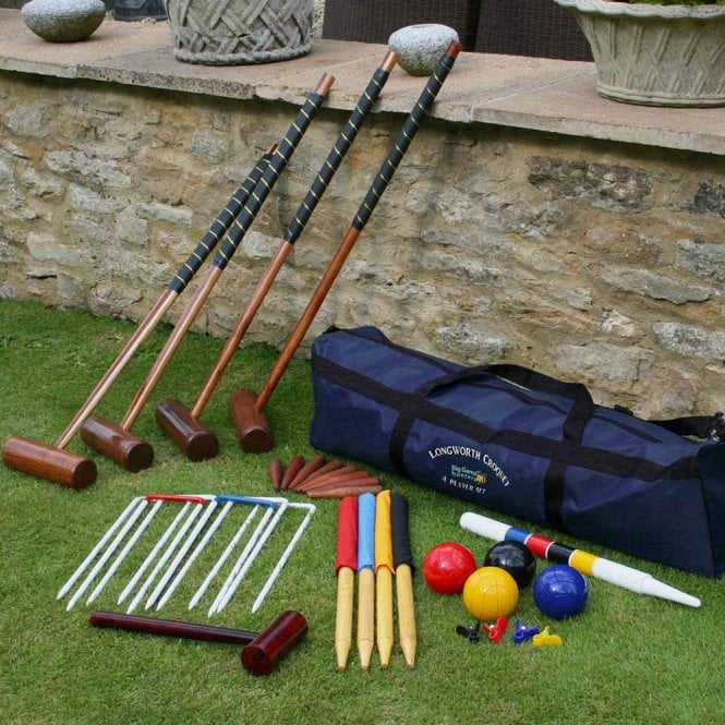 Garden Games Longworth 4 Player Croquet Set with Storage Bag