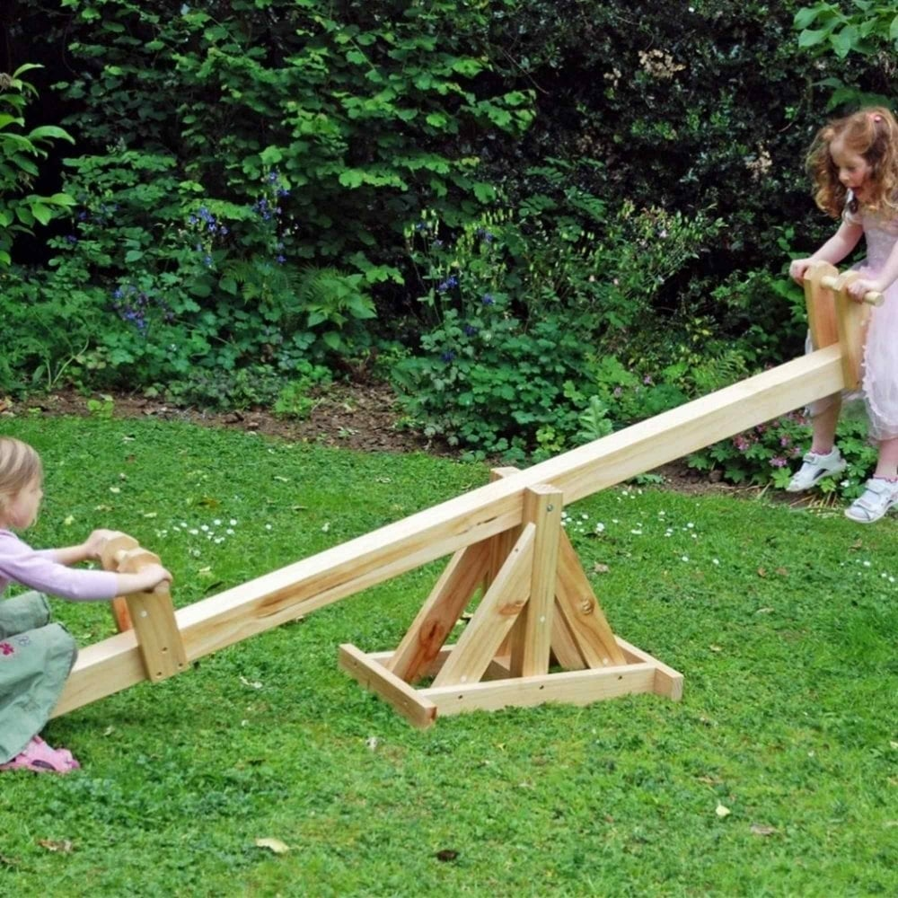 Garden Games Traditional Wooden See Saw