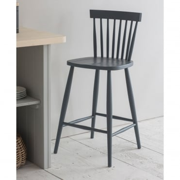 Charcoal Spindle Bar Stool