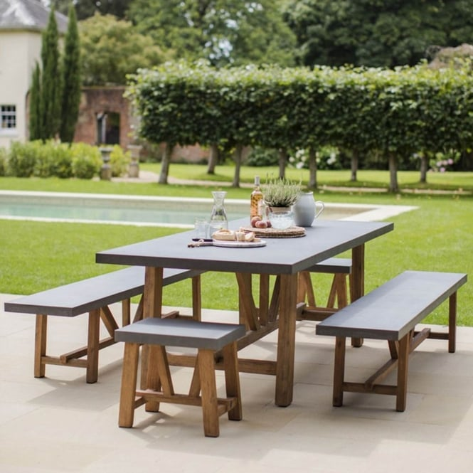 Garden Trading Chilson Table and Bench Set - Large