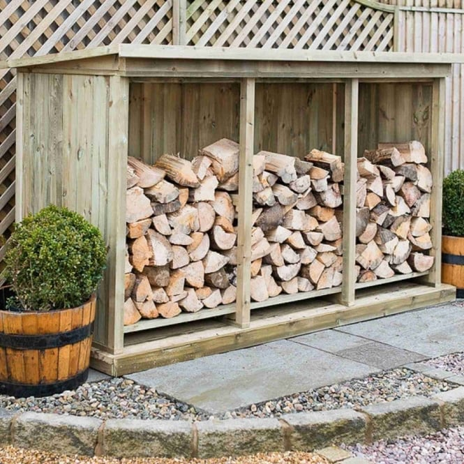 Garden Village Superior Redwood Triple Log Store