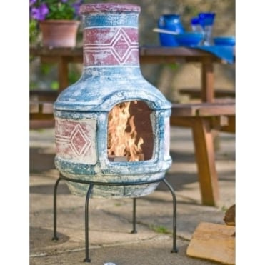 Geometric Medium Chimenea With Grill