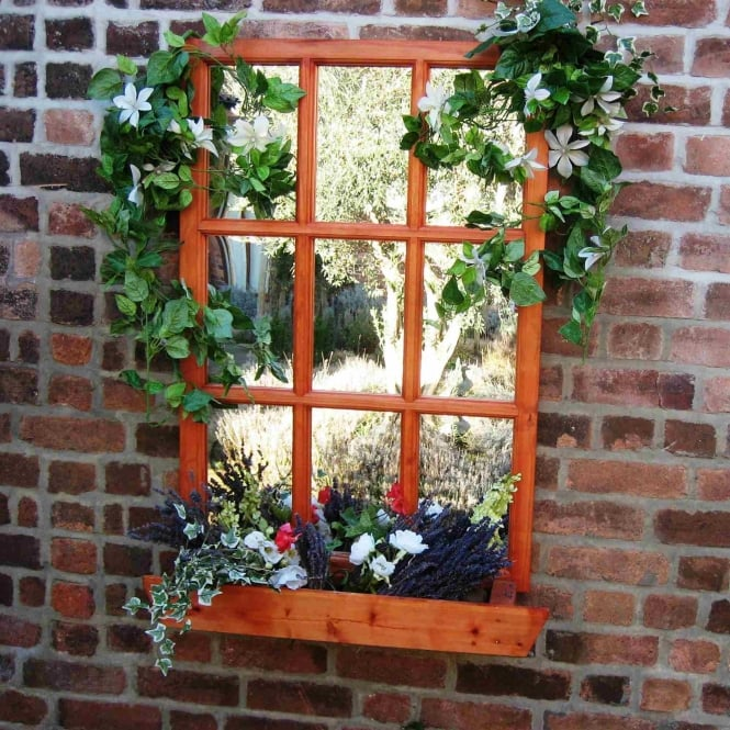 Parallax Georgian Window Garden Mirror