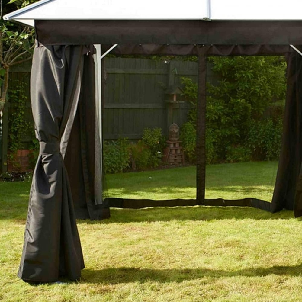Glendale Replacement Curtains For Polycarbonate Gazebo 3m