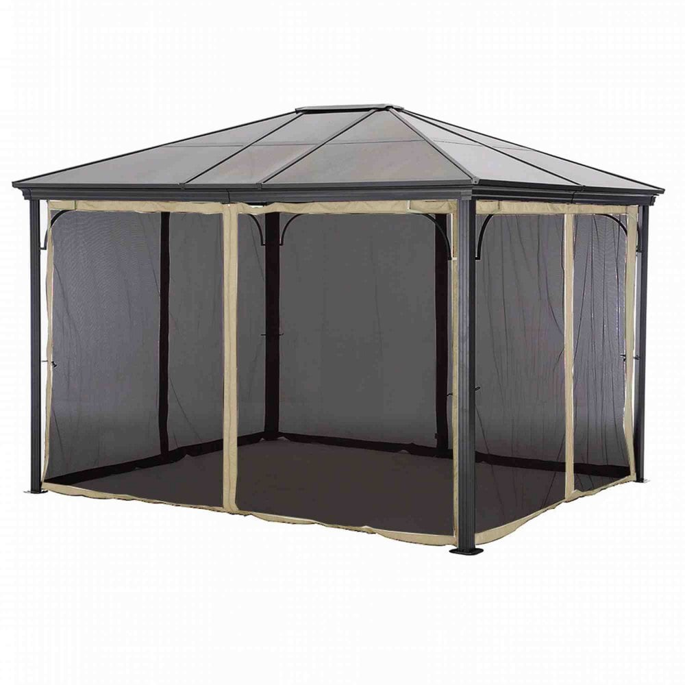 Glendale Replacement Net Curtains For Polycarbonate Gazebo