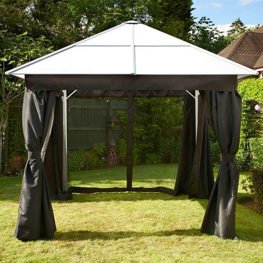 glendale polycarbonate aluminium gazebo garden street. Black Bedroom Furniture Sets. Home Design Ideas