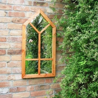 Gothic Illusion Large Window Garden Mirror
