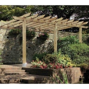 Burleston Lean-To Carport / Pergola