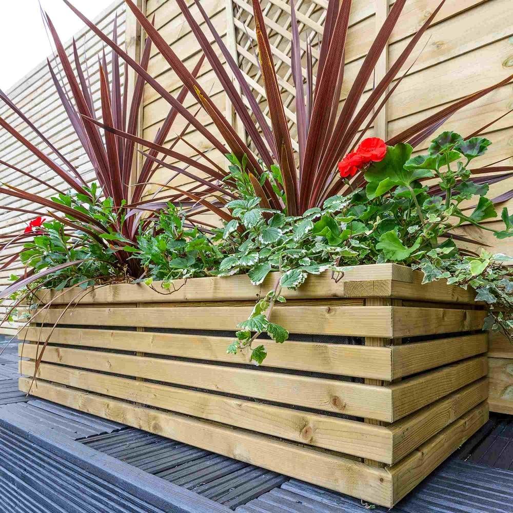 Grange contemporary rectangular planter garden street for Contemporary garden planters