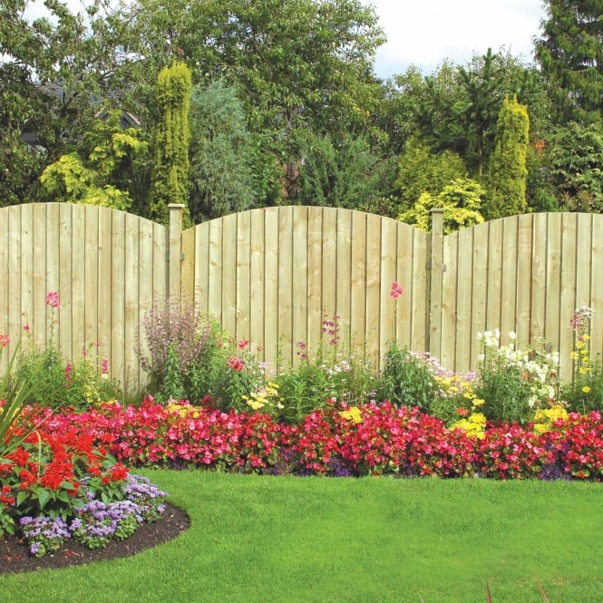 Grange Dome Feather Edge Fence Panel - 6ft