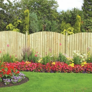 Dome Feather Edge Fence Panel - 6ft