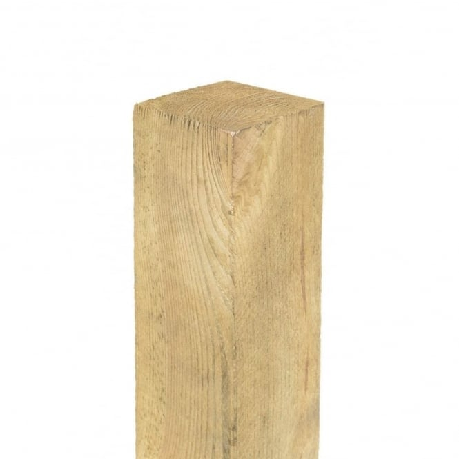 Grange Pressure Treated Natural Incised Fence Post - 100mm Sq.