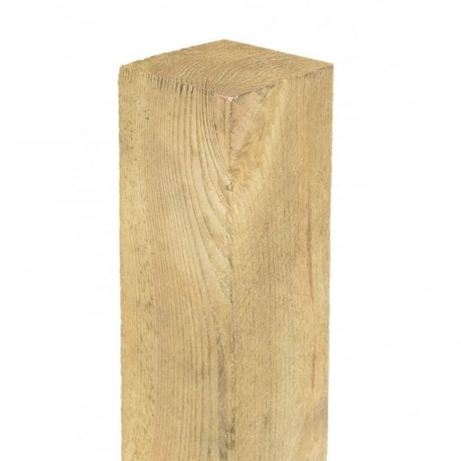 Grange Pressure Treated Natural Incised Fence Post - 75mm Sq.