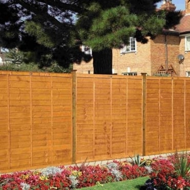 Professional Lap Fence Panel - Golden Brown