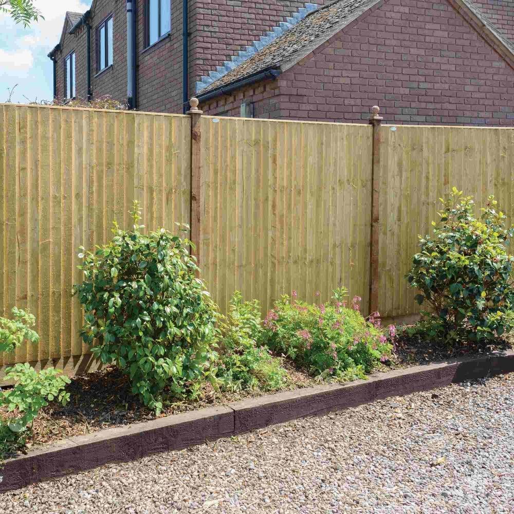 grange standard feather edge fence panel green garden. Black Bedroom Furniture Sets. Home Design Ideas
