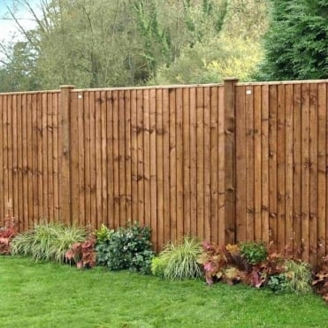 Weston Closeboard Fence Panel - Dark Brown