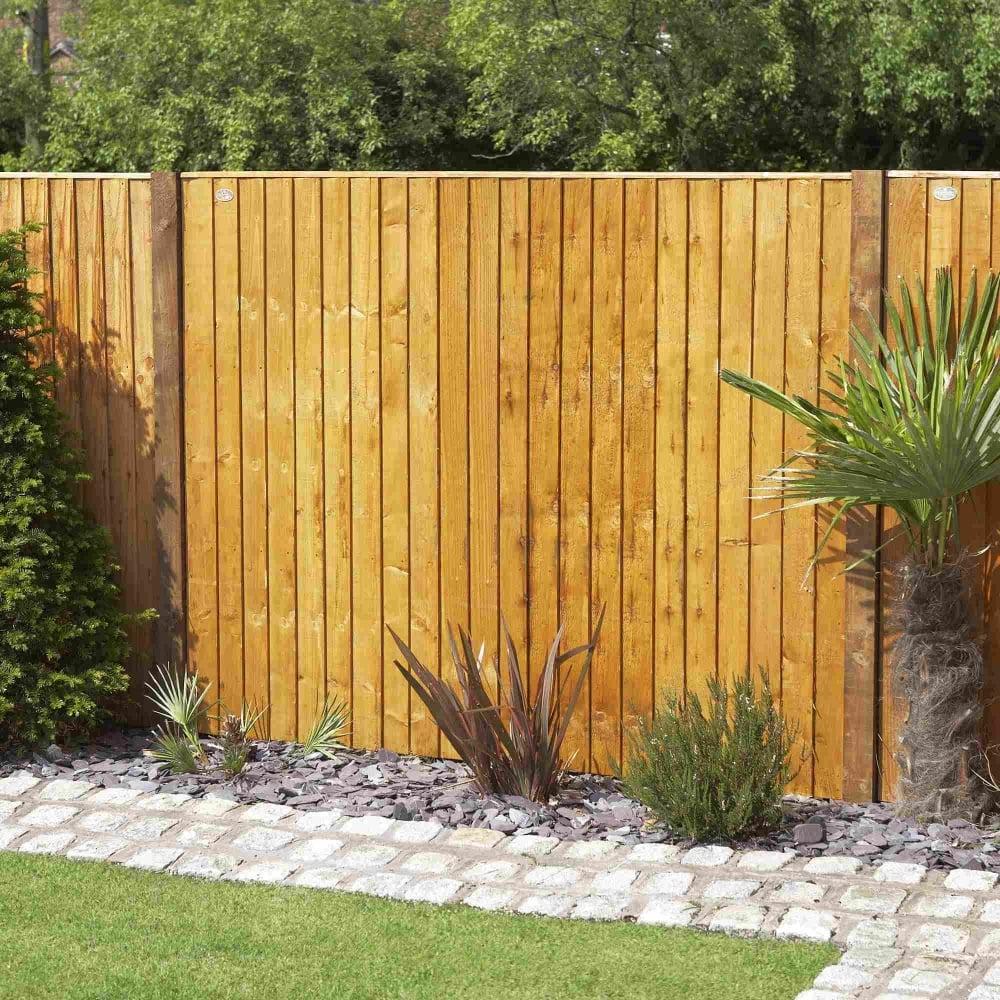 Grange Weston Closeboard Fence Panel Golden Brown