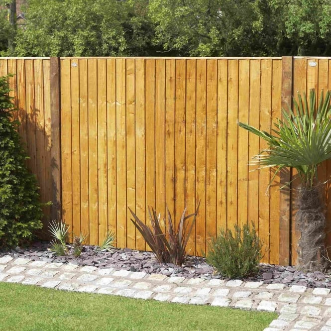Grange Weston Closeboard Fence Panel - Golden Brown