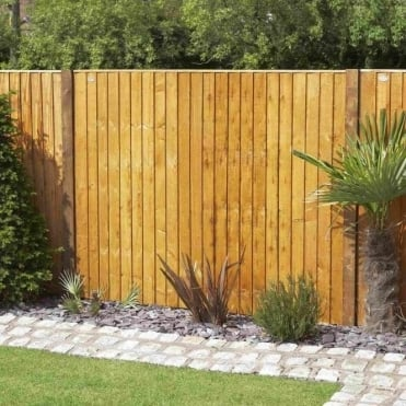 Weston Closeboard Fence Panel - Golden Brown