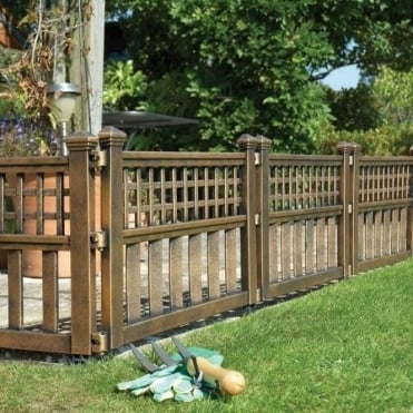 Bronze Fence Panels - Pack Of Four