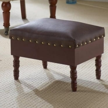 Faux Leather Storage Foot Stool