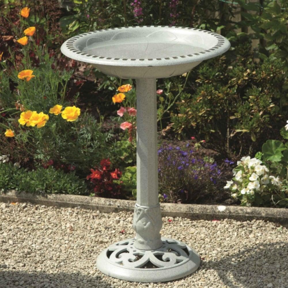 Greenhurst Imperial Stone Effect Bird Bath Garden Street